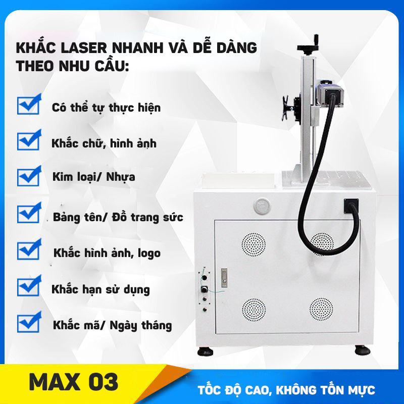 Bộ máy khắc laser fiber trên nhiều chất liệu Aturos MAX 03
