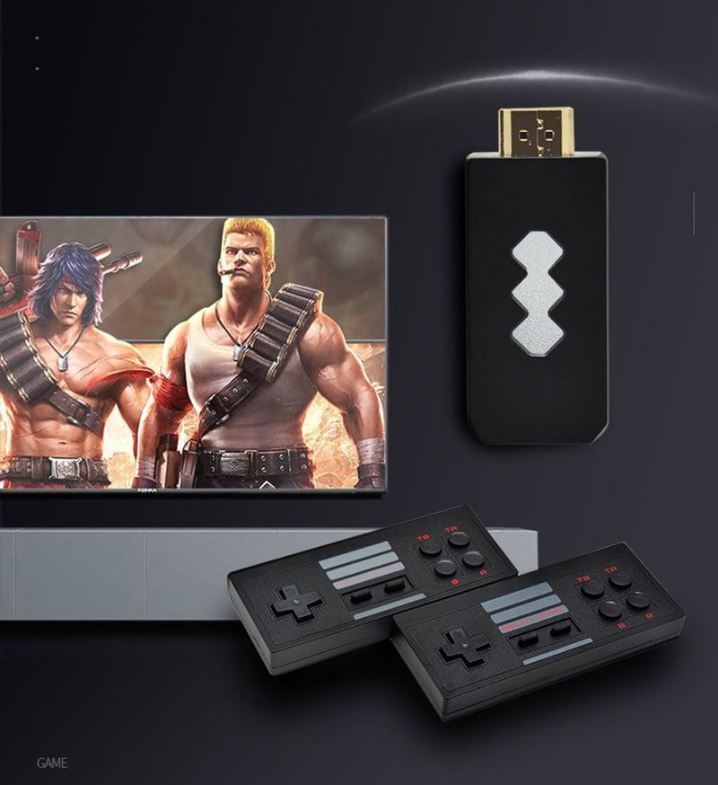 Máy chơi game 4 nút HDMI di động mini dùng cho TV và Laptop Aturos RS-53 với 821 game tích hợp ( Tặng thẻ 128MB)