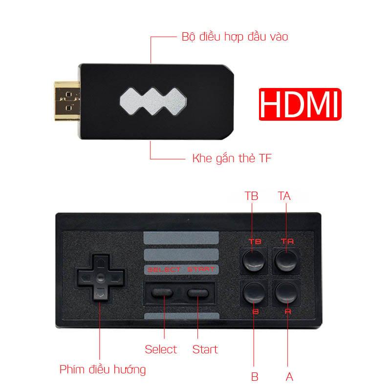 Máy chơi game 4 nút HDMI di động mini dùng cho TV và Laptop Aturos RS-53