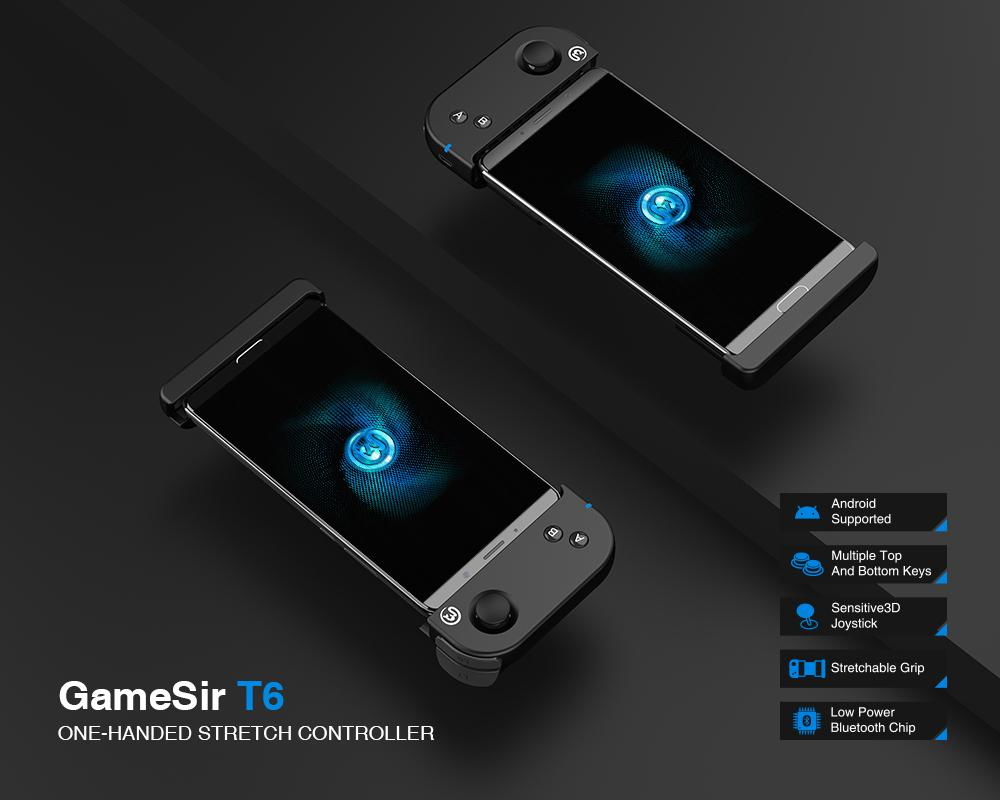 Tay cầm chơi game một bên  Bluetooth GameSir T6 cho Android, iOs iPhone chơi Liên quân, Pubg Mobile, Rule of Survival GameSir T6