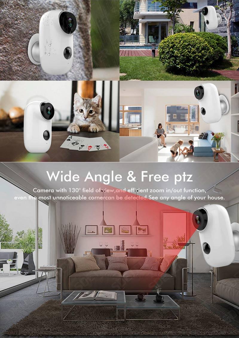 Camera quan sát chống trộm IP wifi tích hợp pin sạc dự phòng chống thấm nước IP65 H.264 Aturos Eagle N2 HD 1.3 Mpx (Pin 6000 mAH thời gian chờ đến 90 ngày)
