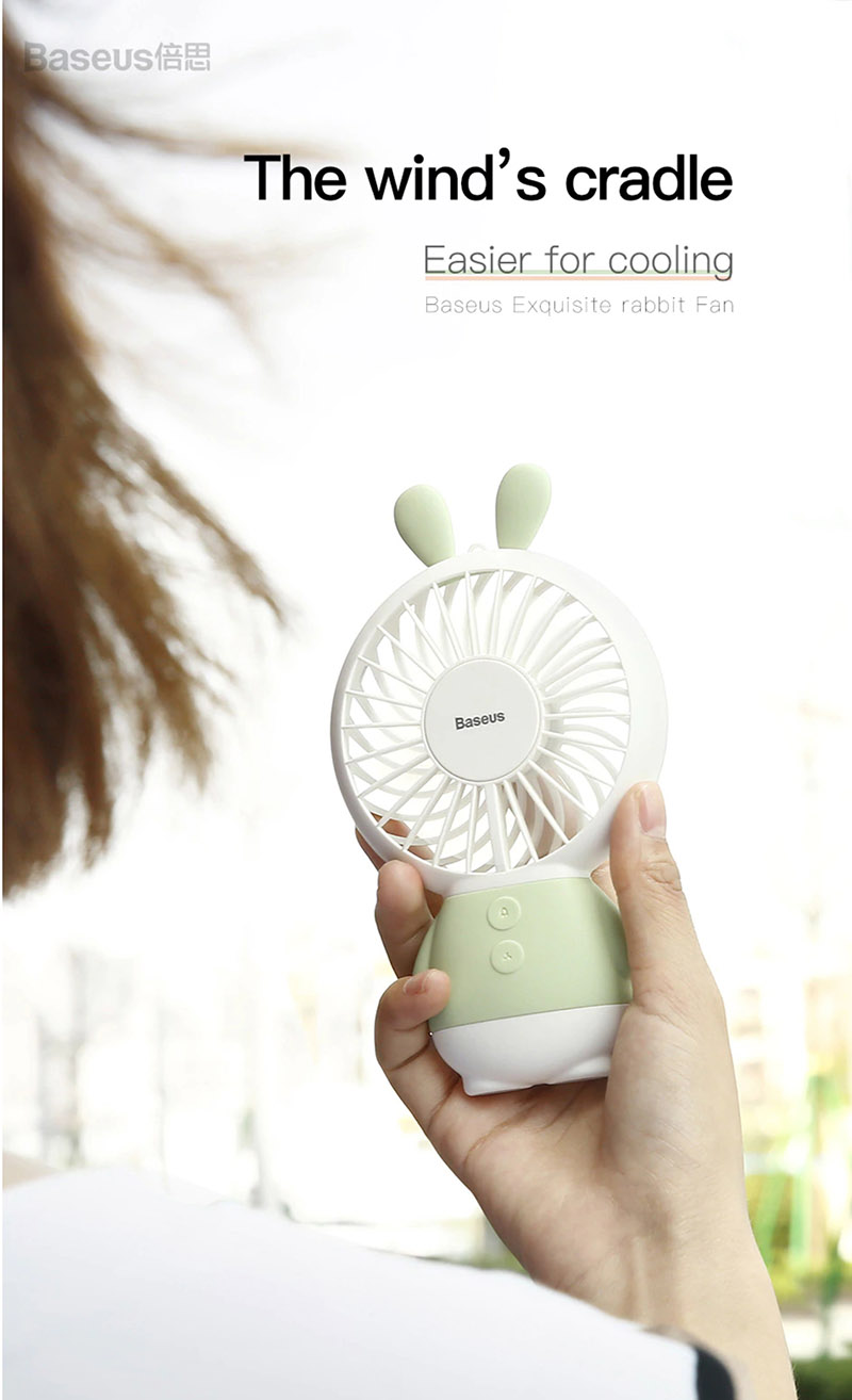 Quạt bàn mini Baseus LED USB FAN 2