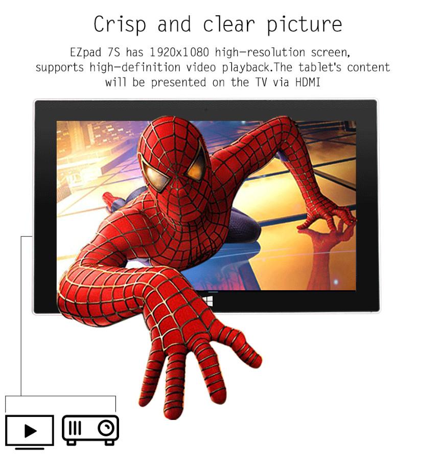 Máy tính bảng tablet Windows 10 kèm bàn phím Ezpad 7S