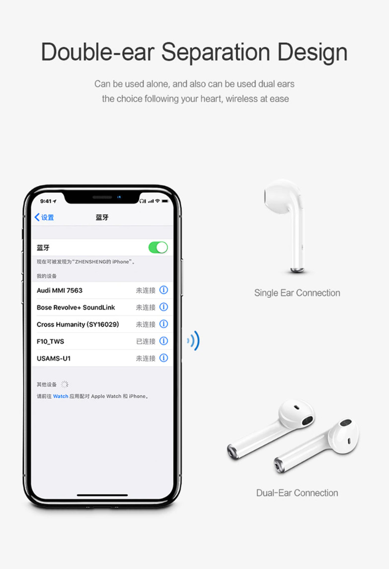 Tai nghe Airpod USAMS US-LR001 Bluetooth 4.2 cho Android, Apple