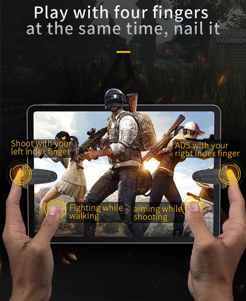 Nút bắn chơi game cho iPad Baseus 2 PC chơi PUBG, Rules of Survival