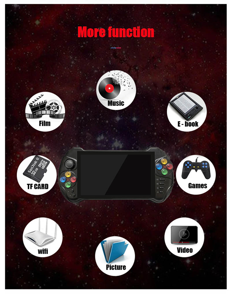 Máy chơi game cầm tay Android Powkiddy X15 ( Màn hình 5.5 inches, RAM 2GB, ROM 32GB)