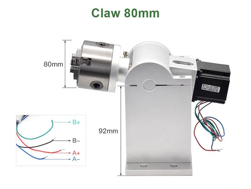 Bộ trục xoay cho máy khắc laser kim loại mini Aturos R1