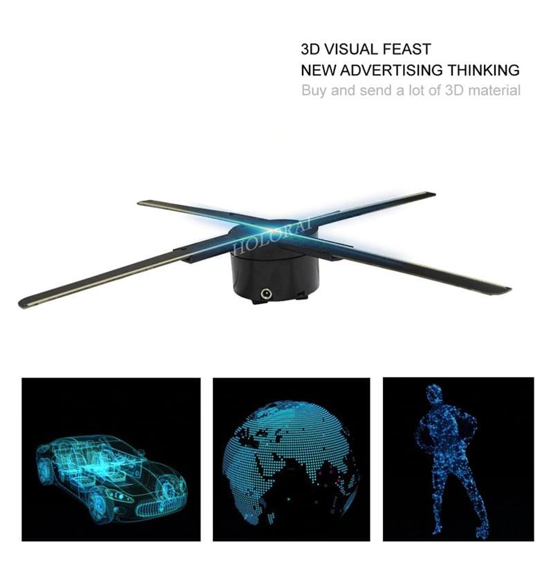 Quạt đèn LED 3D Hologram điều khiển từ xa tích hợp Wifi Aturos HD43(4 cánh, 512 LED, 43cm)
