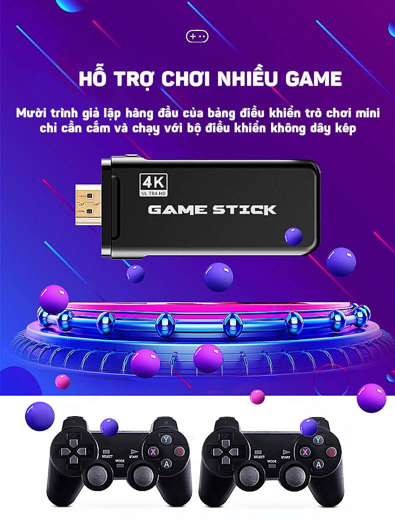 Máy chơi game 4 nút Aturos U8 tích hợp 800 game cổ điển, hỗ trợ chép game bên ngoài, hỗ trợ 4K, chơi game Arcade (NES, GBA, FPS, SFC...), 2 tay cầm không dây