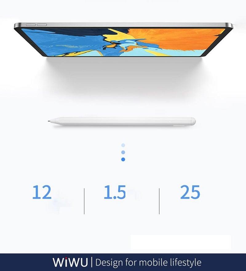 Bút cảm ứng Stylus đầu ngòi nhỏ WiWU New Pencil Max (Kèm theo 2 đầu ngòi phụ) dùng cho iPhone, iPad, Android