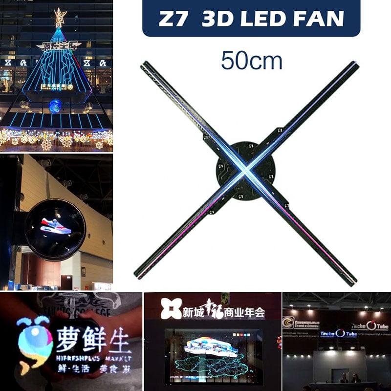 Quạt đèn LED 3D Hologram độ phân giải cao 50cm, 724 LED Aturos Z7 HD50 (dùng Wifi và APP)