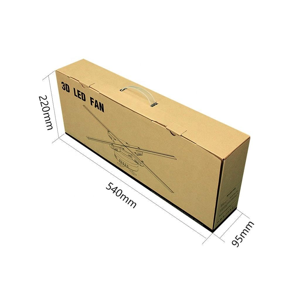 Quạt đèn LED 3D Hologram độ phân giải cao 50cm Promax Z7 (dùng Wifi và APP)