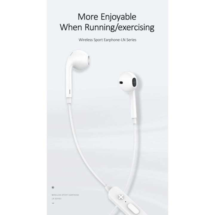 Tai nghe Bluetooth thể thao USAMS Wireless Sport Earphone-LN Series (White)