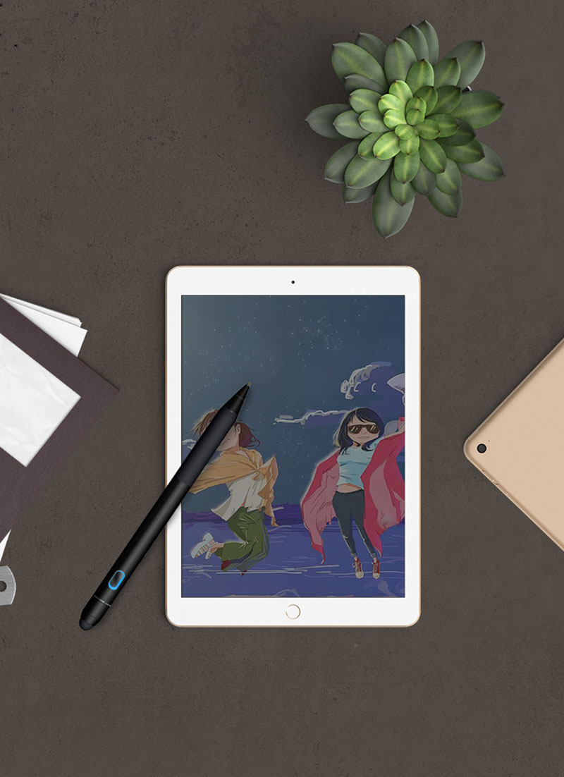 Bút cảm ứng stylus đầu ngòi nhỏ có độ nhạy cao cho iPhone, iPad, Android WIWU Picasso active stylus P333