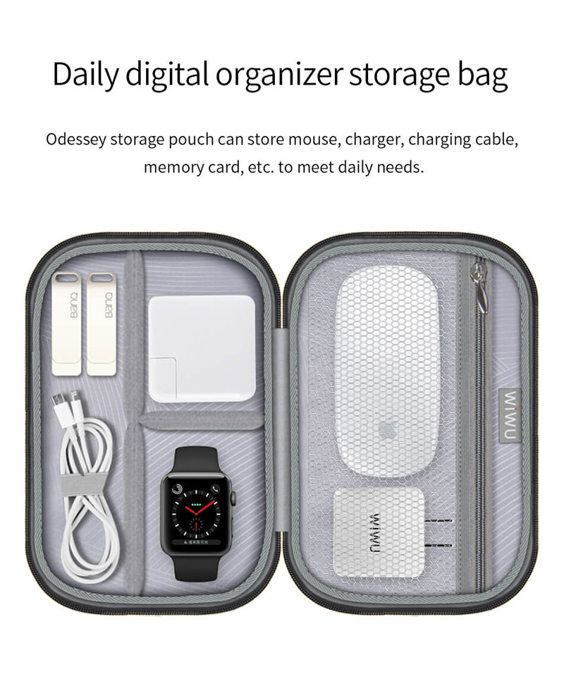 Túi đeo du lịch WIWU Odessey pouch, chống thấm nước 20cmx14.5cm