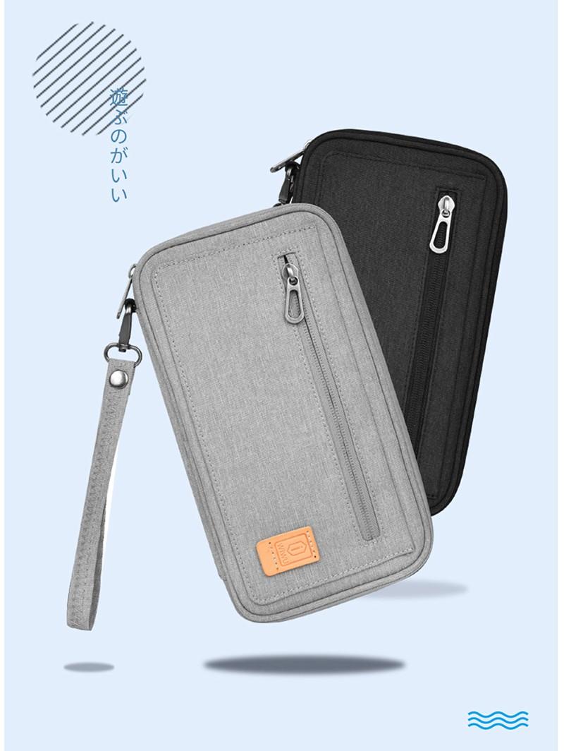 Túi đeo chéo du lịch WIWU Pioneer Passport Pouch đựng pasport, thẻ, ID Card, chống quét trộm mã thẻ(Màu xám)