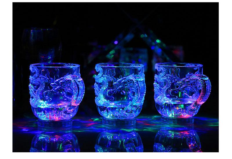 Ly tự phát sáng khi có nước nhiều màu Aturos PS Rainbow Cup