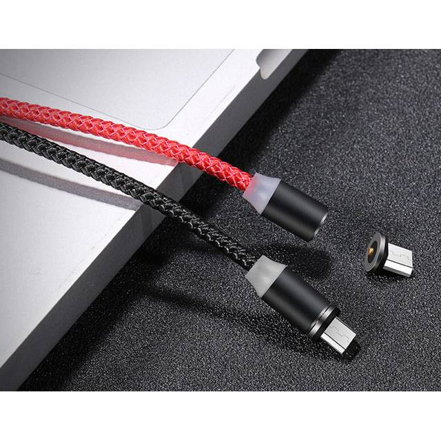 Đầu sạc nam châm Micro USB US-SJ158 vừa sạc, vừa truyền dữ liệu (Silver)