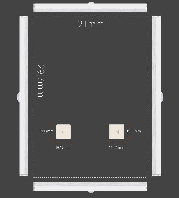 Đèn LED dài di động treo tường có cảm biến chuyển động Aturos BLED120
