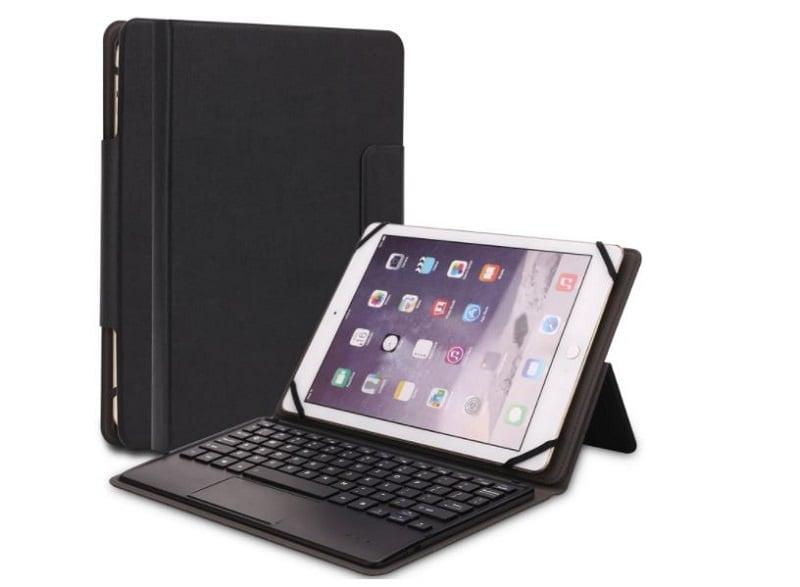 Bàn phím Bluetooth tích hợp chuột kèm bao da bảo vệ cao cấp Promax Shop