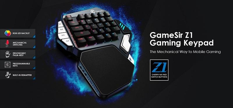 Bàn phím cơ Gamesir Z1 Keypad hỗ trợ chơi game Pubg, Rules of Survival giá rẻ
