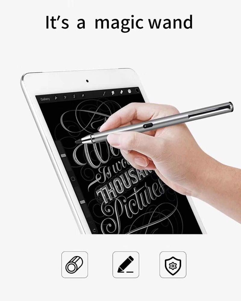 Bút cảm ứng stylus đầu ngòi nhỏ  WIWU Picasso active stylus P666 dùng cho iPhone, iPad, Android