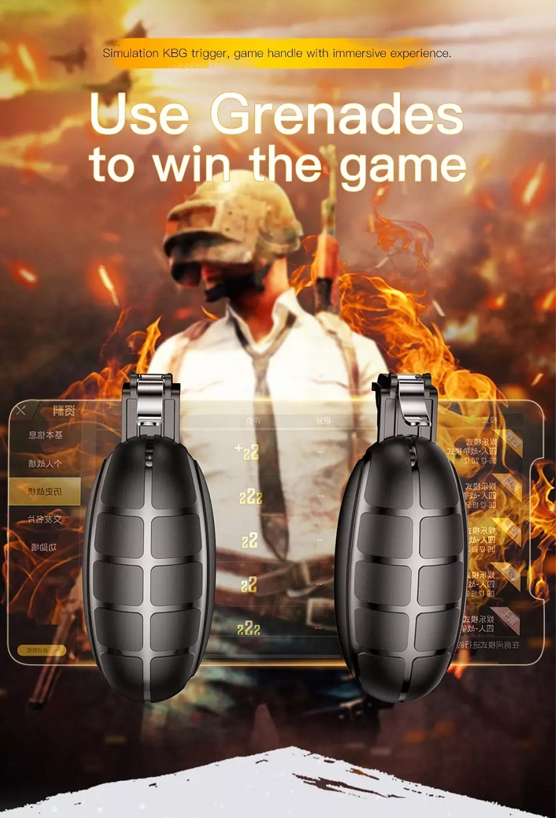 Nút cơ hỗ trợ bắn Baseus Grenade Handle G-Point cho các Game Pubg mobile, Rules of Survival, Free Fire (Shooter Controller, Fire Button Handle)