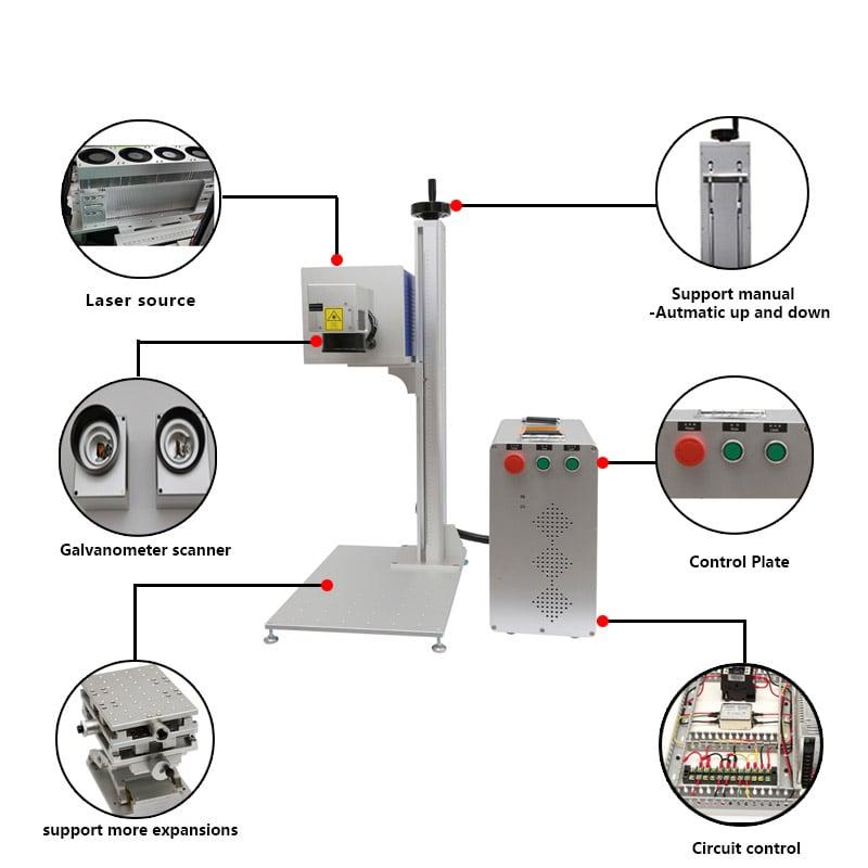 Máy khắc laser Fiber CO2 30W Aturos MAX CO (khắc thủy tinh, gỗ, đồ sứ,...)