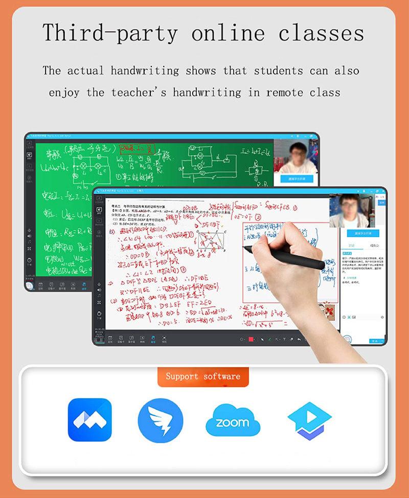 Bảng vẽ điện tử hỗ trợ dạy học online dùng cho Windows 10, Android, iOS kết nối dây Aturos WP9620