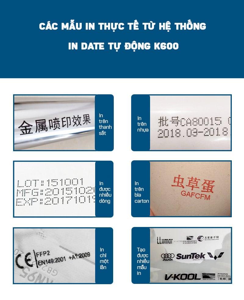 Hệ thống in date tự động dùng băng tải Promax K600-600DPI  (Máy in, màn hình,băng chuyền, giá đỡ,cảm biến)