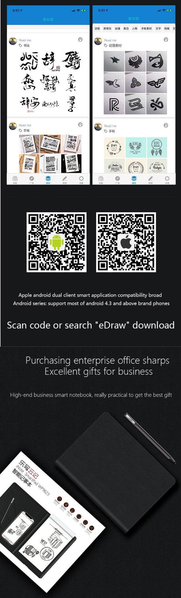 Sổ ghi chép thông minh tự đồng bộ lên điện thoại, máy tính bảng Promax iNote SmartPad WP9623