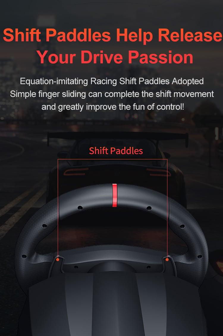 Vô lăng chơi game 900 độ PXN V900 kèm chế độ rung dùng cho PC/PS3/PS4/Xbox one/Nintendo switch