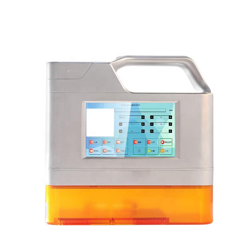 Máy in khắc laser mini cầm tay trên mọi chất liệu, in date, in logo, in số lô, ngày sản xuất Aturos Meenjet