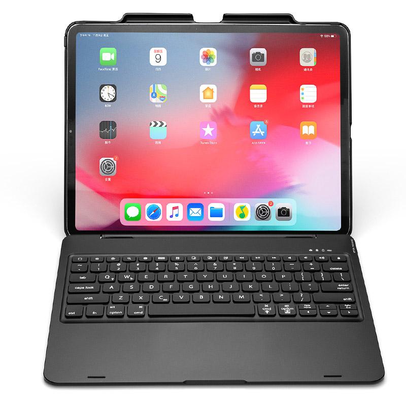 Bàn phím Bluetooth cho iPad Pro 11 có khe để bút Apple Pencil, touchpad Aturos F110