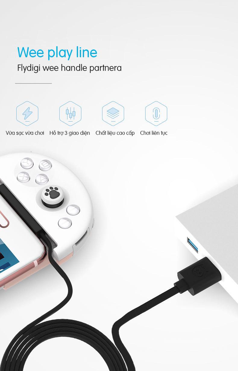 Cáp chuyển đổi góc 90 độ chơi game cho Flydigi Wee 2T, T6, Wee 2, Q1, X8 Pro Flydigi Weekend