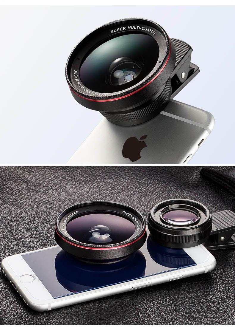 Bộ kính lens cho điện thoại góc rộng Wide Angle, Macro chất lượng 4K HD 0.6X Aturos LN01