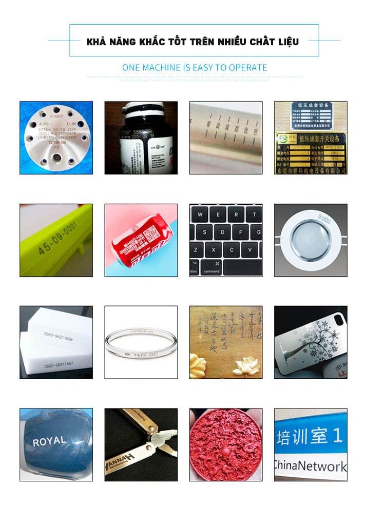 Máy khắc laser fiber kim loại và trên nhiều chất liệu Aturos Max 04 khắc logo, hình ảnh, date, hạn sử dụng, mã vạch, mã QR (Nguồn Max, 20W)