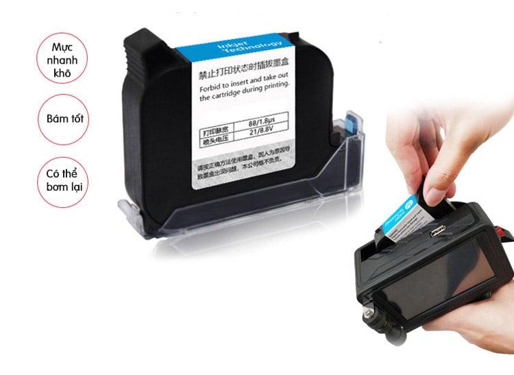 Máy in date cầm tay thông minh khổ lớn 25.4mm Promax T3 (In logo, in mã vạch, in kí tự, in hạn sử dụng, ngày sản xuất trên mọi chất liệu)