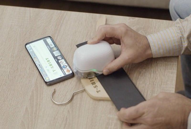 Máy in màu mini cầm tay di động PrintBrush XDR in trên mọi chất liệu (nhựa, vải, giấy, kim loại, gỗ, cao su,...)