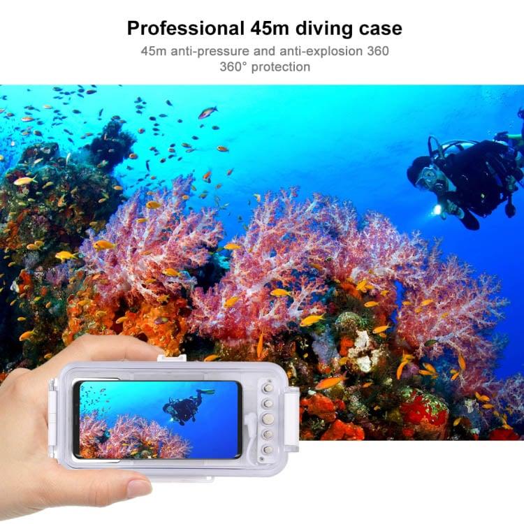 Vỏ chống nước hỗ trợ chụp ảnh, quay video dưới nước cho điện thoại Type C Promax Puluz PU9 100W (Màu trắng)