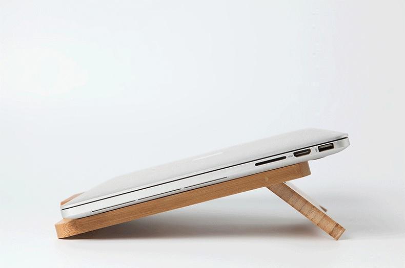 Đế tản nhiệt bằng gỗ cho Laptop Macbook giá rẻ hiệu Aturos