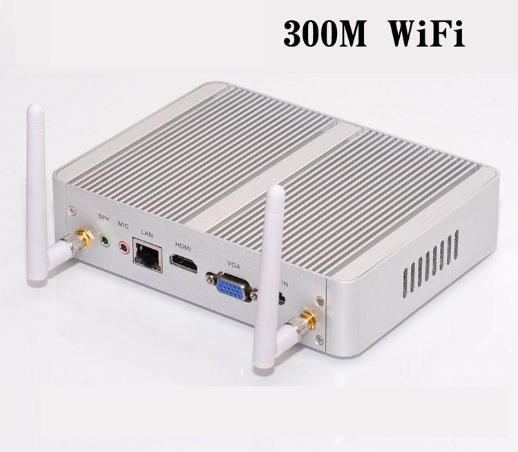 Mini PC, CPU Mini máy tính chuẩn công nghiệp Aturos YC025 Core i5 4200U, RAM 8G, SSD M2 128G (Bạc)