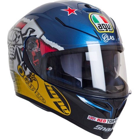 agv k5 guy martin 3some blue fuschia yellow