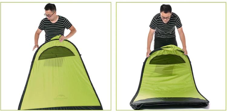Cách dựng lều thay đồ ngoài trời Naturehike