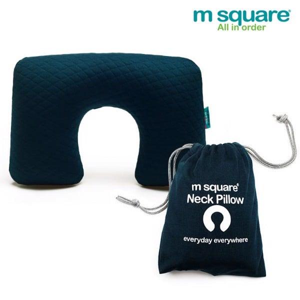 Gối hơi du lịch Msquare màu xanh