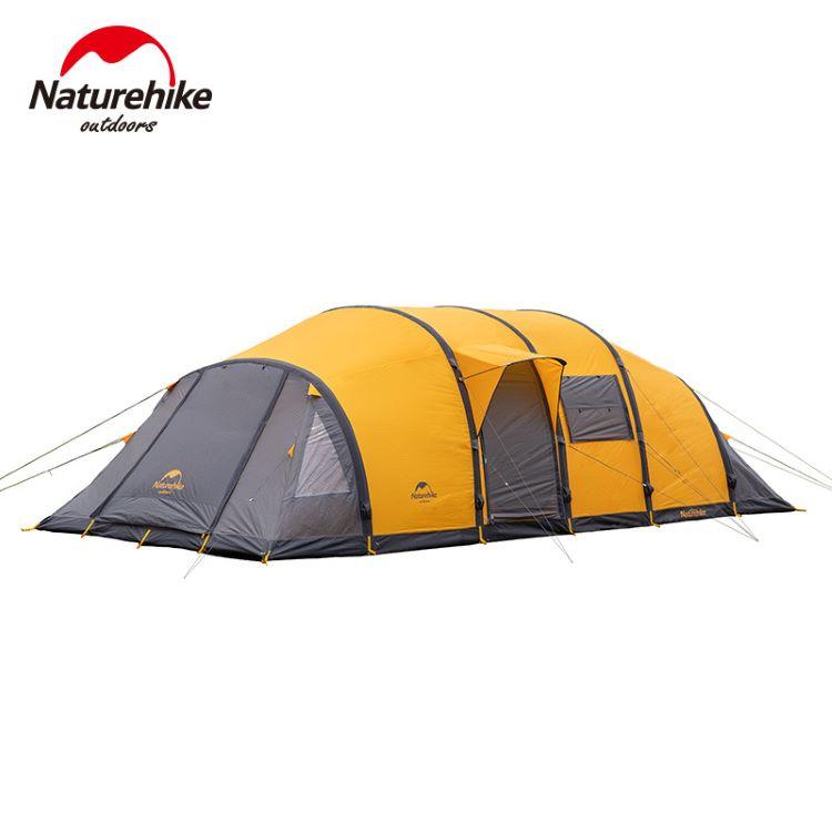 Lều cắm trại Nauturehike 8, 10 người màu vàng