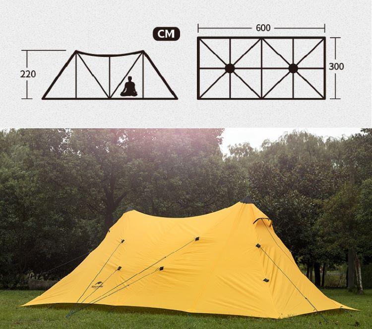 Lều cắm trại 8 người Naturehike