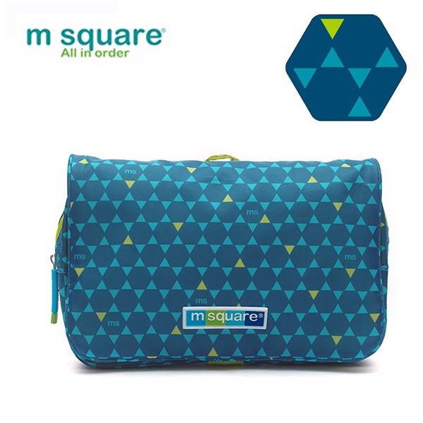 túi đựng mỹ phẩm msquare cao cấp business II xanh lam