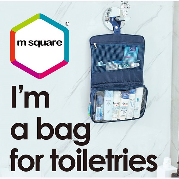 túi đựng mỹ phẩm du lịch msquare business có móc treo