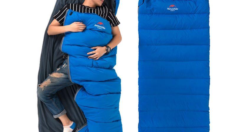 Túi ngủ mùa đông màu xanh